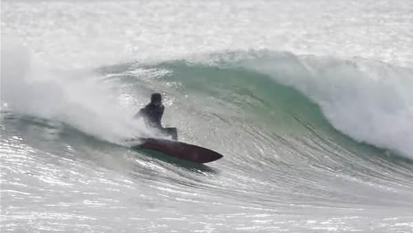 Dylan Graves Surfs Firing Lake Superior