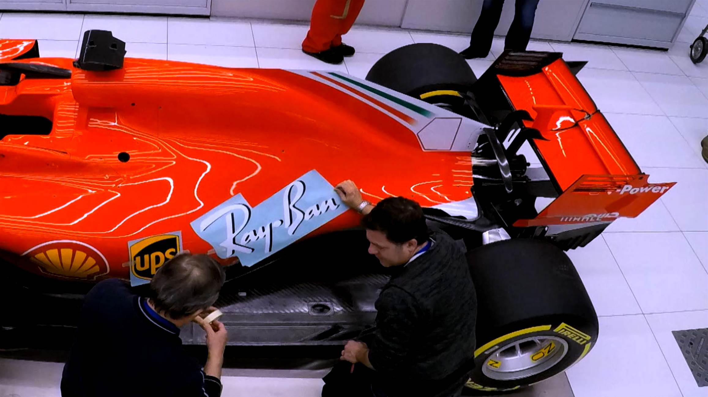 Stickering the new F1 Ferrari