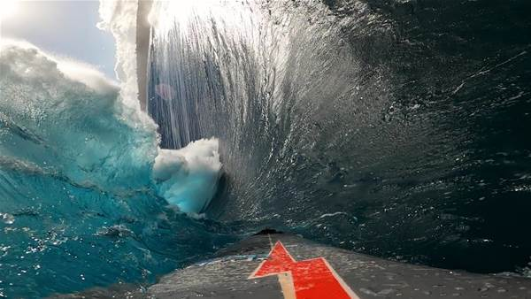Watch: Ever Wondered What it's Like to Go Over the Falls at Massive Jaws?