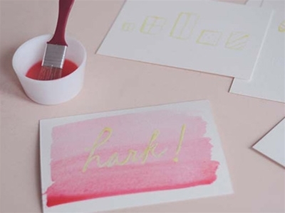 exclusive frankie diy - masking fluid card fun