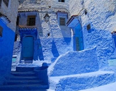 a very blue city