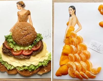 fashion illustration good enough to eat