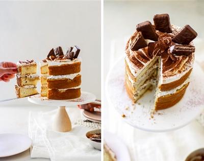 tiramisu and tim tam layer cake