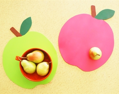 frankie exclusive diy: wooden apple placemats