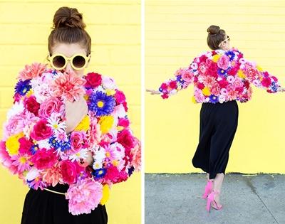 diy flower jacket