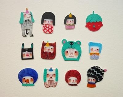 mini fan fan illustrations