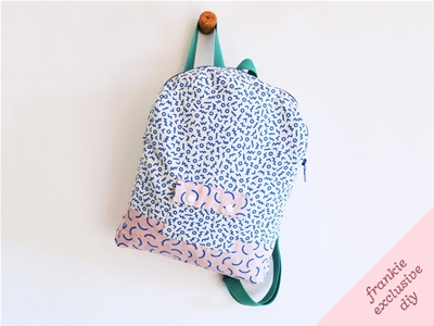 frankie exclusive diy: classic '80s backpack