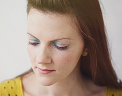 get fancy: coloured eyeshadow