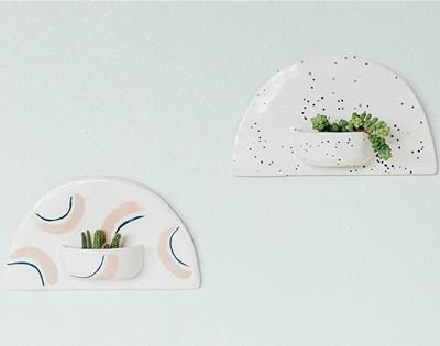 js ceramics wall planter