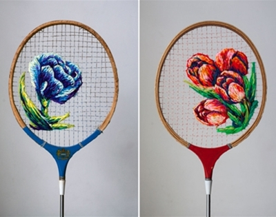 danielle clough's jazzed up racquets