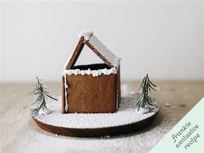frankie fodder: diy mini-gingerbread house kits
