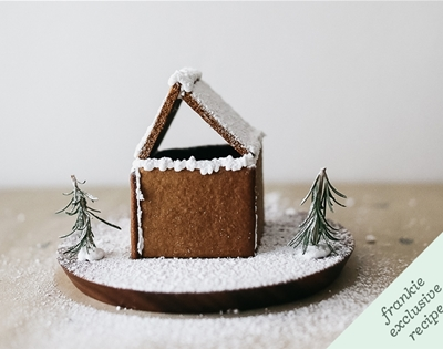 frankie fodder: diy mini-gingerbread house kits