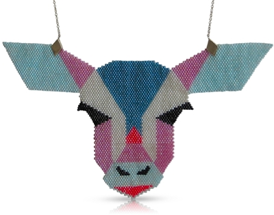 beaded animal necklaces