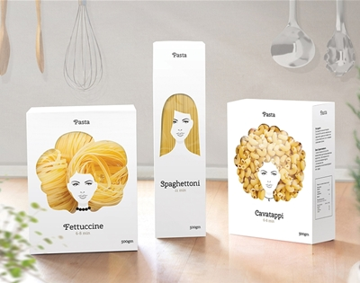 good hair day pasta packaging