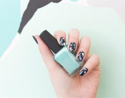 get fancy: frankie pattern nail art