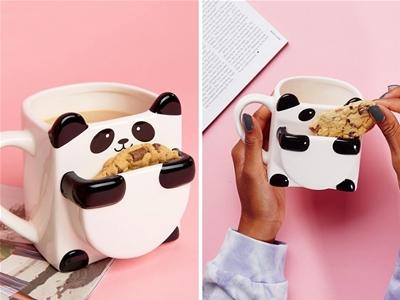 panda cookie mug