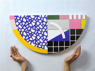 colourful laser-cut creations