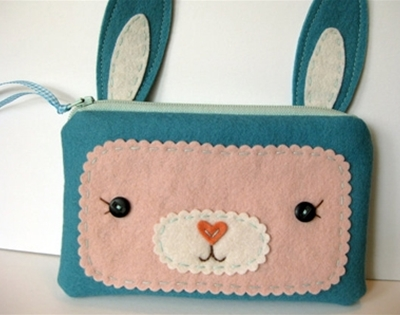 wool critter pouches