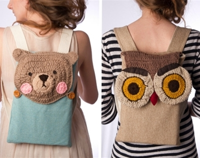 crochet critter backpacks