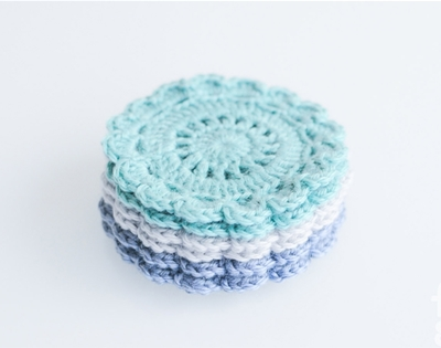 fig & sparrow crochet coasters