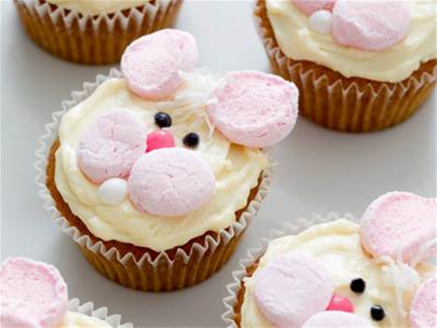 honey bunny cupcakes