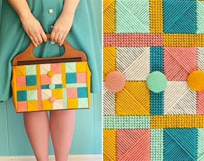 diy vintage needlepoint bag