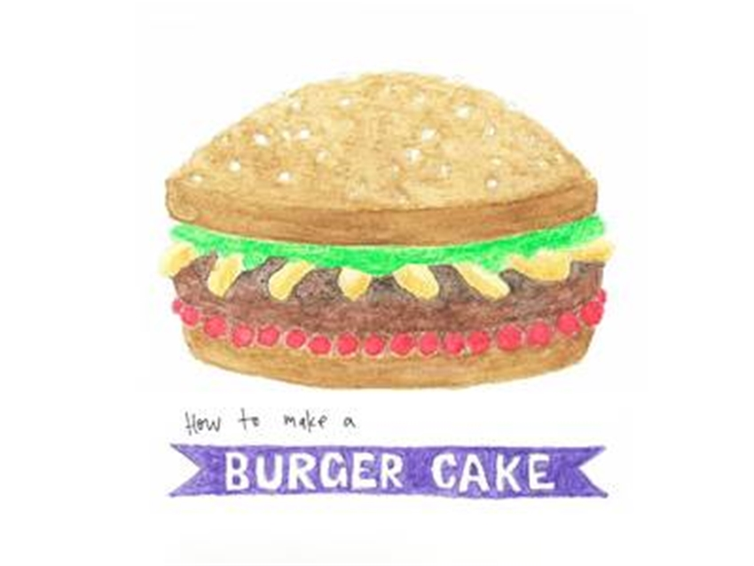 the burger cake