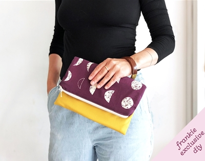 frankie exclusive diy: fold-over clutch bag