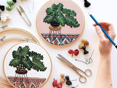 word from the wise: getting started in embroidery with sarah k. benning