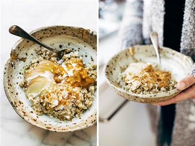 toasted coconut porridge