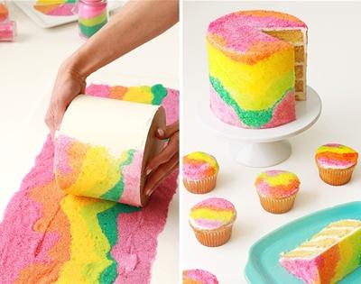 sand art cake