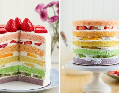chinese bakery rainbow cake