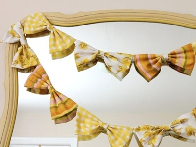 bow garland diy