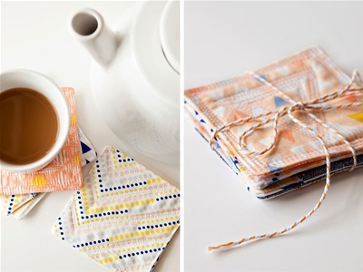 diy quilted coasters