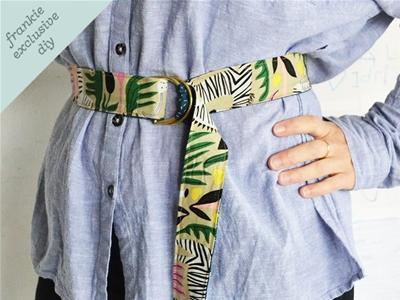 frankie exclusive diy: fabric belt