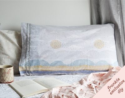 frankie exclusive diy: seascape pillowcase