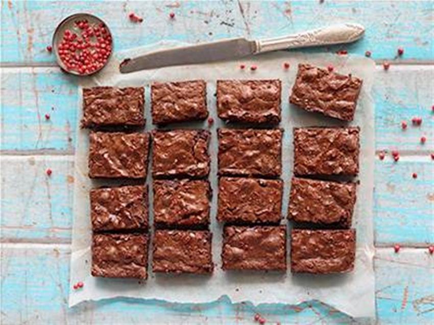 pink peppercorn brownies
