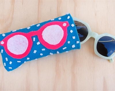 frankie exclusive diy: summer loving glasses pouch