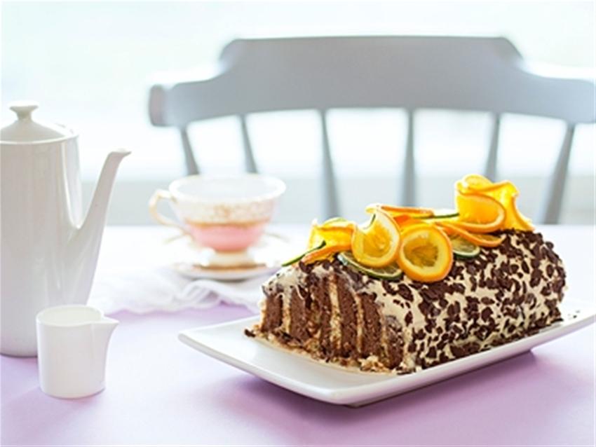 frankie fodder: orange stacker cake