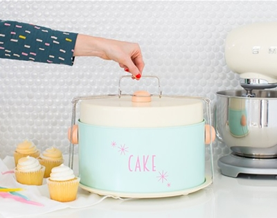 diy retro cake carrier