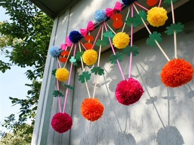 frankie exclusive diy: colourful hanging decoration