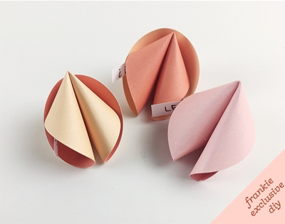 frankie exclusive diy: valentine's day paper fortune cookies