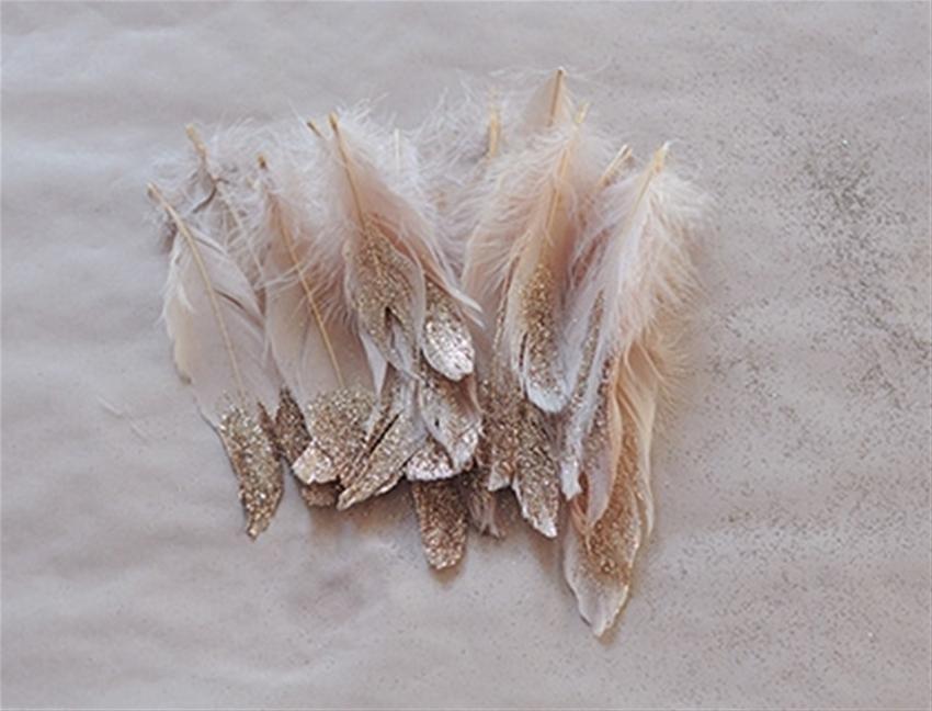 frankie diy - glitter feathers