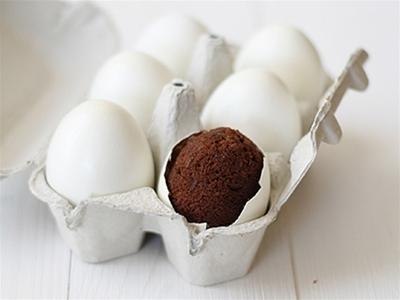 surprise eggshell brownies