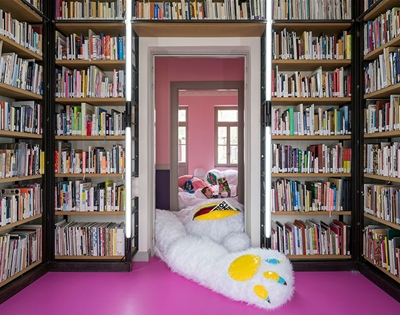 fall into this fluffy library