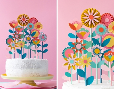 diy floral cake toppers