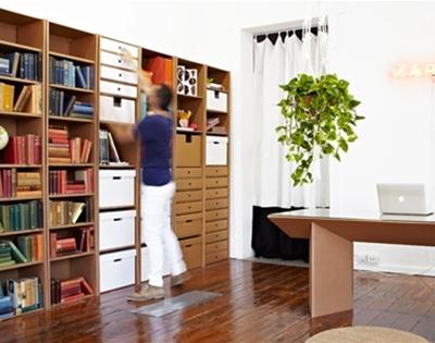 stuff mondays - karton bookshelves