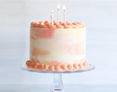 swishy-swashy watercolour cake