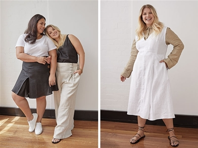 a new plus size label for snazzy linen essentials