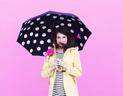 diy polka dot umbrellas